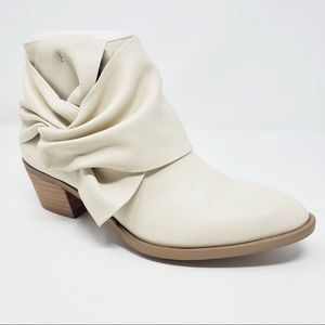 Sole Society NATALYIA Knotted Cream Women Booties